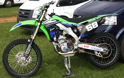 Darren Smith sponsored bike
